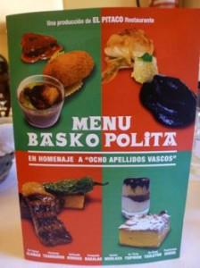 Restaurante el Pitaco, Madrid, película 8 apellidos vascos, menu, crema de alubias con morcilla y berza, croquetas de bacalao, salteado de hongos, pimientos del piquillo rellenos de txangurro, cava FAUSTINO RESERVA, Oyon-Alava, Txipiron de anzuelo en su tinta, lomito de merluza asada con cebolla caída, taco de txuleton de buey con pimiento de Gernika, pantxineta y Goxua acompañada con un licor Patxarana, experiencia gastronómica, maridaje, maridaje gourmet, maridaje gourmet y más, Julián Carazo