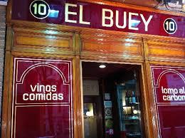 Entrada Restaurante El Buey, comer en Madrid, salir en Madrid, carne, Octavio San José, gastronomía de calidad, experiencia gastronómica, carne gallega, parrilla, tartas caseras, steak tartar, maridaje, maridaje gourmet, maridaje gourmet y más
