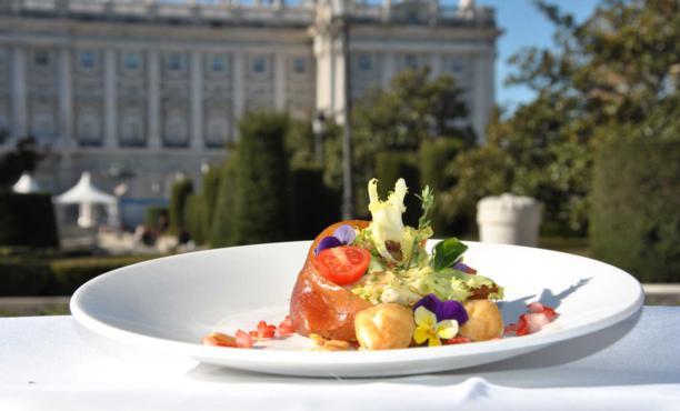plato gourmet, palacio de oriente, Madrid exquisito, restaurantes, maridaje gourmet y mas, maridaje gourmet, maridaje, ONG Mensajeros de la Paz, menu degustación