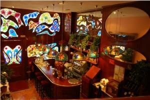interior Restaurante las Pocholas, Madrid, Santiago Iglesias,, aniversario, art nouveau, barrio de Chamberi, experiencia gastronómica, maridaje gourmet y mas, maridaje gourmet, maridaje, cocina
