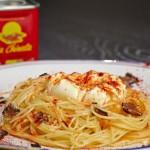 """receta fácil de elaborar, receta, Pimentón """"La Chinata"""", Pimentón, condimento, rojizo, rojo, picante, Huevo Poché sobre nido de pasta, trufa y pimentón ahumado, posibilidades culinarias, aprender a cocinar, hacer pasta, plato italiano, dieta mediterránea, comer bien, comer, comer sano, comer saludablemente, Espaguetis, pimentón ahumado de la Vera, Aceite de Oliva Virgen Extra, elaboración, recetario, trufa, cocer la pasta, maridaje, maridaje gourmet, maridaje gourmet y más"""